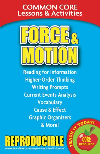 Force and Motion - Common Core Lessons and Activities