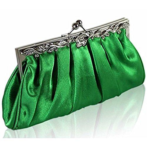 Bolso de embrague para mujer, diseño cristal Green Crystal Clutch