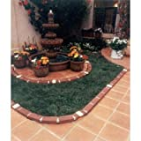 ARGEE LAWN EDGING DECORATIVE BRICK PLASTIC 20' LONG WITH 4 SOLAR LIGHTED PLASTIC BRICKS