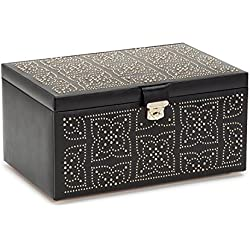 WOLF 308202 Marrakesh Jewelry Box, Large, Black