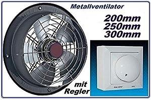300mm Ventilador industrial con 500W Regulador de Velocidad ...