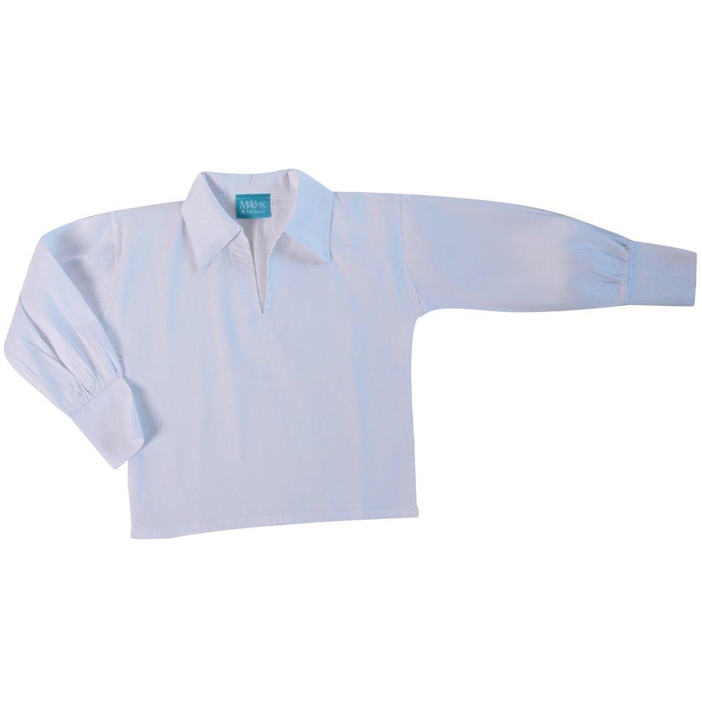 Boys Basic Renaissance Shirt, White (Boys X-Large 14, White)