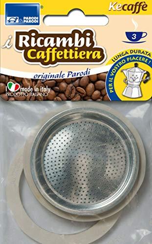 Parodi & Parodi 603 – Recambioss cafetera 3 Tazas, Neutro, estándar