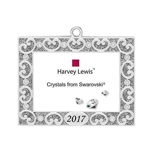 2017 Silver Scroll Frame Harvey Lewis™ Silver-plated Ornament - Made with Crystals from Swarovski® (Scrolls Fusion)