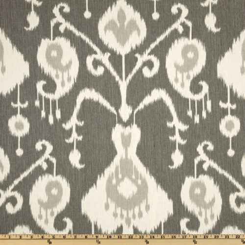 Magnolia Draperies - Magnolia Home Fashions UO-170 Java Ikat Pewter Fabric by The Yard,