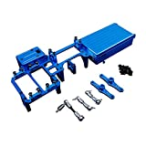 TOP SPEED RC WORLD Alloy Twin Steering Servo With Big Battery Case Kit Blue For Losi 5ive T