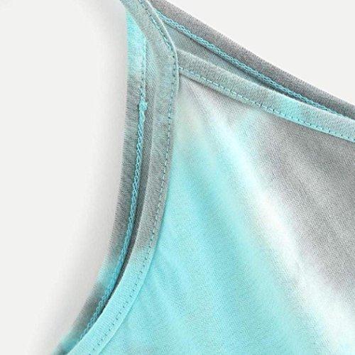 Blouse Grande Bleu Ciel Débardeurs shirt Chic Sling Manches Casual Gilet Sans T Slim Femmes Court Nouveau V Mode Col 2018 Taille Tie Vest Élégant Adeshop Style Paragraphe Sexy dye BfAqw1npp