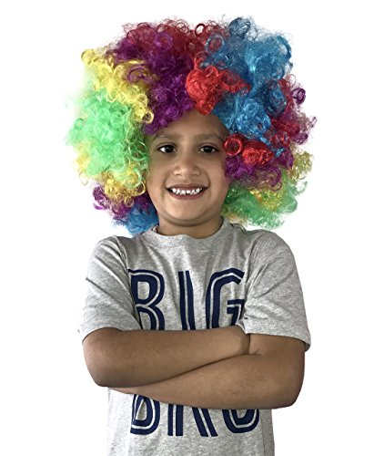 Adult Multi Color Mohawk Party Wig (KINREX Clown Wig - Rainbow Wig - Costume Party Accessories - Unisex)