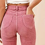 Women's High Waist Flare Wide Leg Pants Corduroy