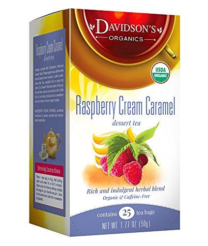 Davidson's Tea Raspberry Cream Caramel, 25-Count Tea Bags ,1.77 Oz (Pack of 6)