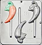 Chili Pepper Lollipop Chocolate Candy Mold 3405