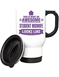 PURPLE This is what an AWESOME Student Midwife Looks like TRAVEL Mug - Gift idea work