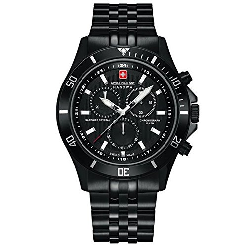 36ab46a1c56b Swiss Military Hanowa Reloj Cronógrafo para Hombre de Cuarzo con Correa en  Acero Inoxidable 6-5183.7.13.007  Swiss Military Hanowa  Amazon.es  Relojes