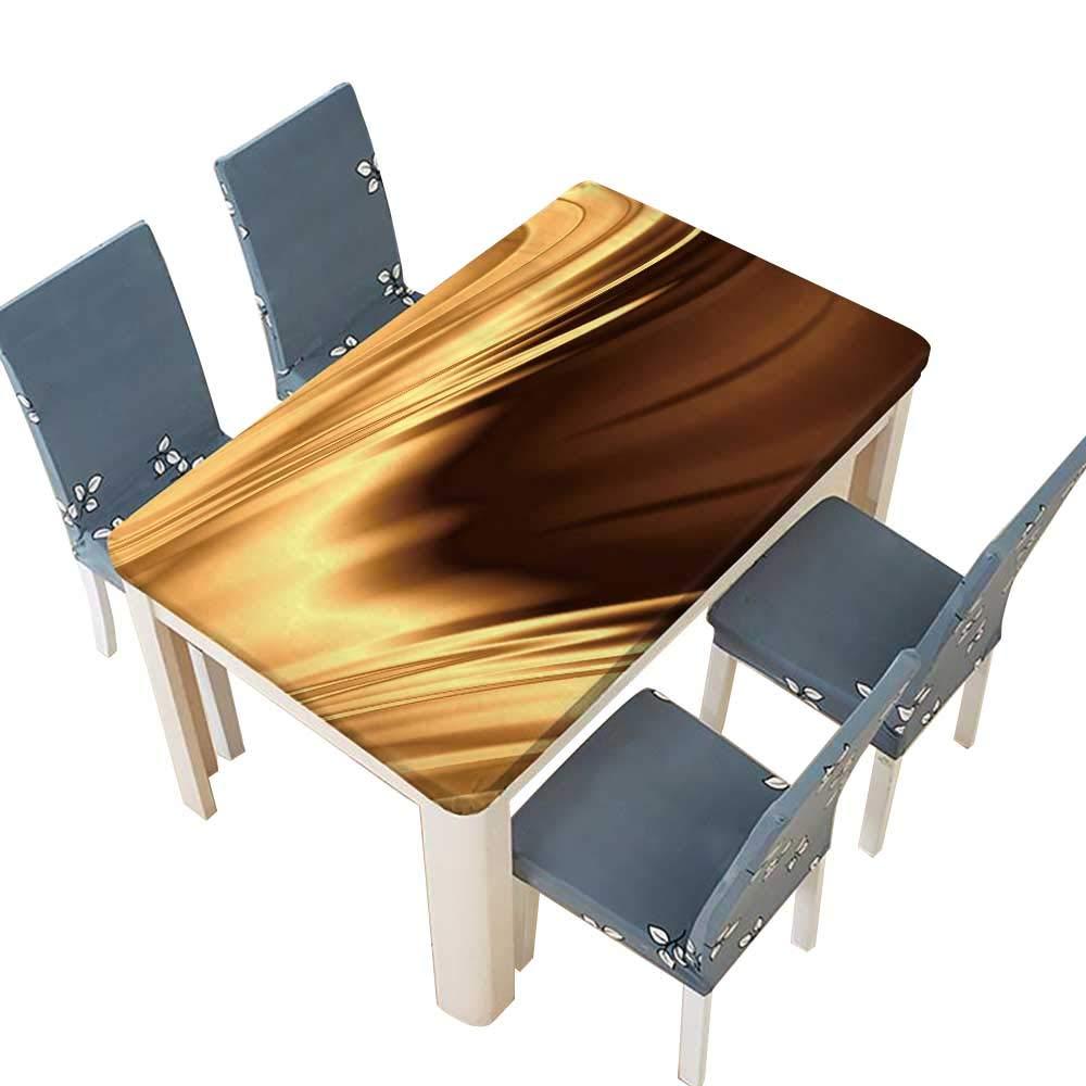 PINAFORE 室内/屋外用 ゴールド 光沢のある背景 キッチン テーブルクロス ピクニッククロス 幅25.5×長さ65インチ(絶縁) W41