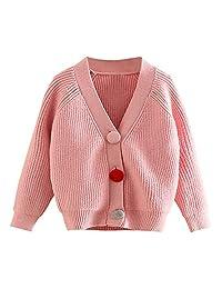 Mud Kingdom Toddler Girls' Uniform Button Cardigan Sweaters Pink