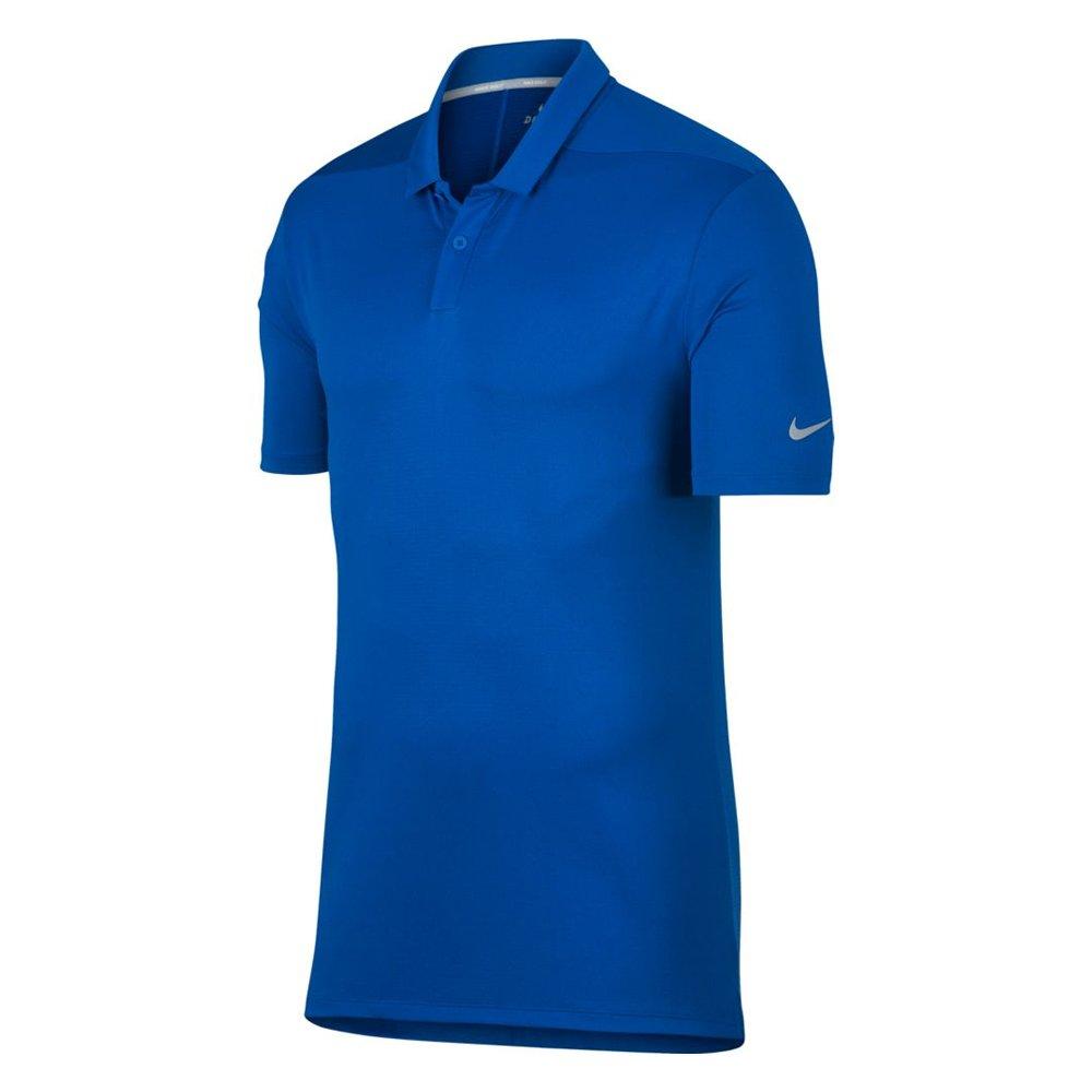 NIKE Breathe Texture OLC Golf Polo 2018 Blue Nebula/Flat Silver Medium by Nike
