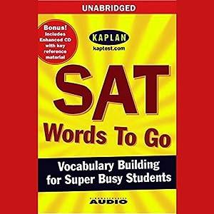 SAT Words to Go Audiobook