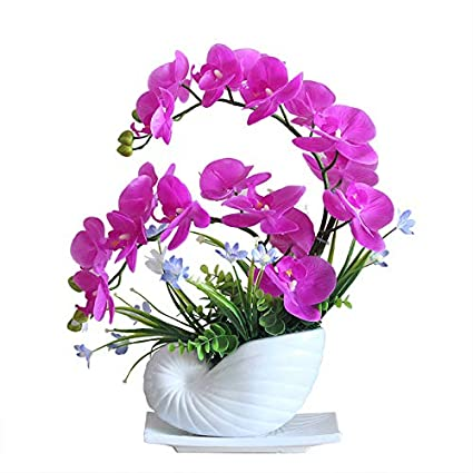 Amazon Com Phalaenopsis Artificial Flower Set Table Flower