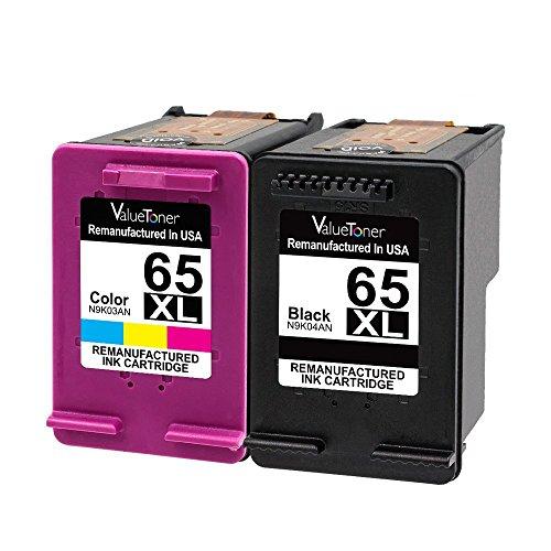 Hp Deskjet 300 (Valuetoner Remanufactured Ink Cartridges for 65XL,65 XL for N9K04AN for HP DeskJet 3755 2655 DeskJet 3720 3722 3723 DeskJet 3730 3732 3752 3758 2624 all-in-one Printer High Yield (1 Black, 1 Color))