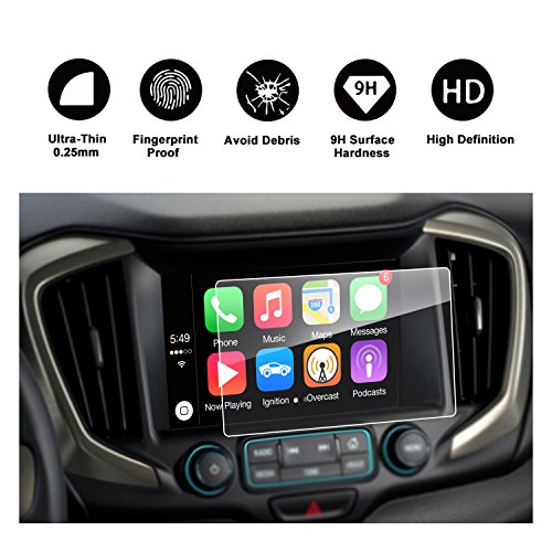2018 GMC Terrain INTELLILINK Car Navigation,GMC Infotaintment System RUIYA HD Clear TEMPERED GLASS Screen Protective Film (8-Inch) by RUIYA
