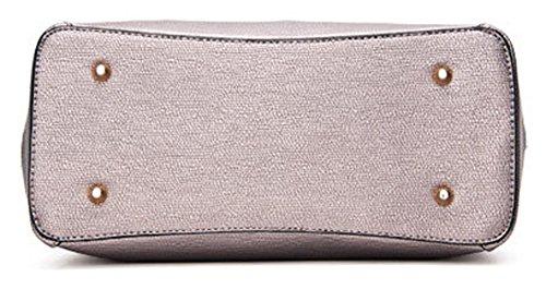 Longzibog Dual verstellbare Schultergurte und Hängeschlaufenband 2016 Neue Simple Style Fashion Tote Top Handle Schulter Umhängetasche Satchel Beige