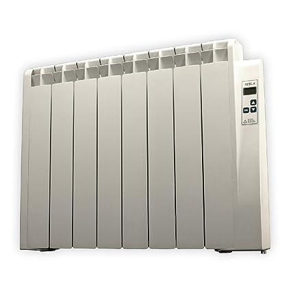 farho Tessla - Radiador Eléctrico de bajo Consumo 1000 W, Digital Programable y con opción
