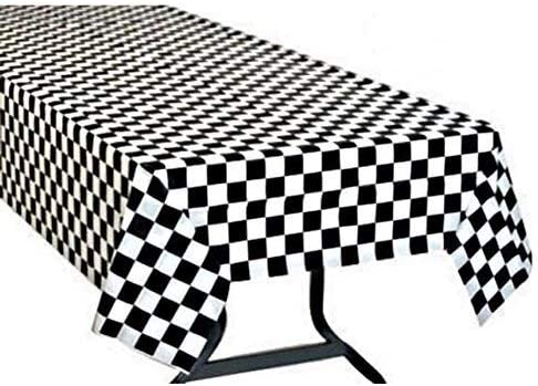 Oojami Checkered Tablecloth Disposable Racing product image