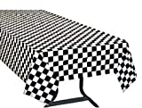 Toys : Pack of 3, Black & White Checkered Flag Table Cover Party Favor/Checkered Tablecloth/Disposable Checkered Racing Table Cover