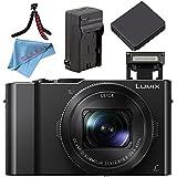 Panasonic Lumix DMC-LX10 DMC-LX10K Digital Camera + Lithium Ion Battery + Charger + Flexible Tripod + Fibercloth Bundle