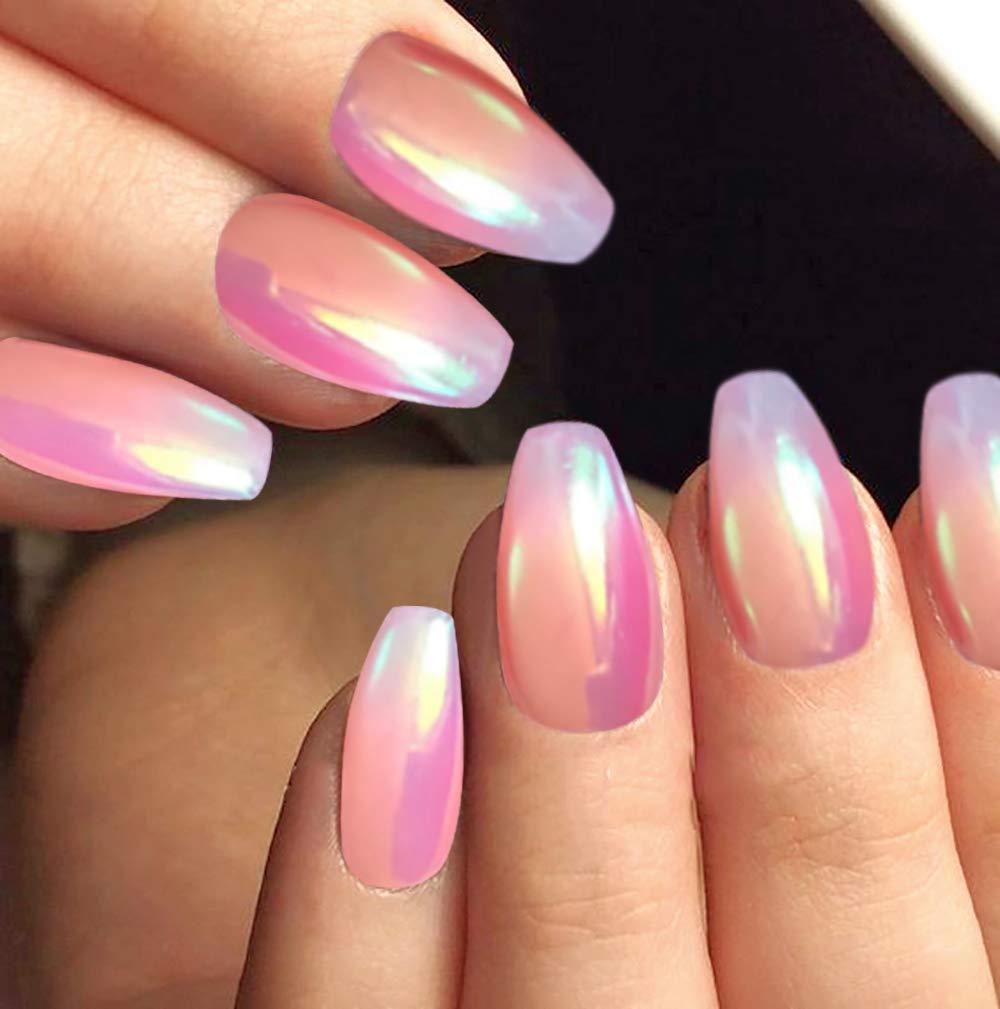 PrettyDiva 7 Jar Pearl Powder Mirror Effect Chrome Nail Powder Metallic Nail Manicure Pigment by Pretty Diva (Image #6)