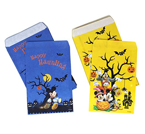 PMG Halloween Disney Paper Favor & Treat Bags, Mickey Mouse (Halloween Paper Bag Designs)