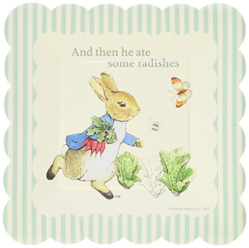 Peter Rabbit Small Square Party Plates - Pack of 12