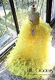 Rebecca Dress, Long Tail Dress, Little Gracious Pageant Dress, Golden Yellow Dress, Flower Girl Dress| Halloween Dress Thanksgiving LG024