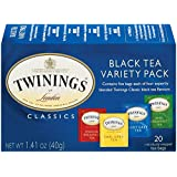 Twinings Variety Pack of Four Flavors, Tea Bags, 20-Count Boxes (Pack of 6)
