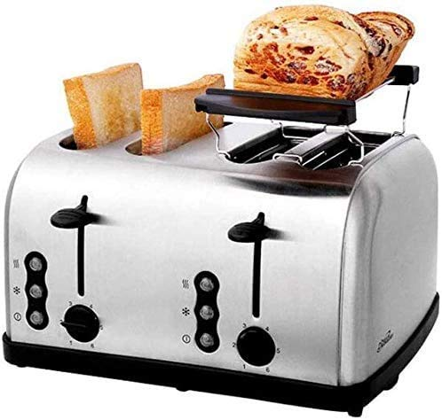 ykw Breadmakers,4 Slice Toaster-Home Breakfast Automatic Stainless Steel Bread Machine
