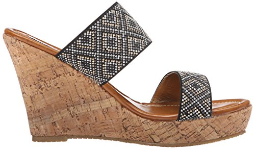 Women Wedge Sandal 2 Too Too Lips Black Hazel AzPqfB