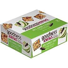 goodnessKNOWS Apple, Almond, Peanut & Dark Chocolate Gluten Free Snack Square Bars 12-Count Box