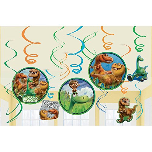 [Amscan Disney The Good Dinosaur Value Pack Foil Swirl Birthday Party Decorations (12 Pack), 7