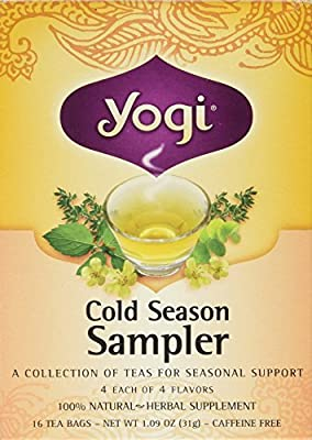 Yogi cold season tea sampler caffeine free - 16 tea bags | kroger.