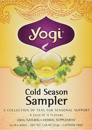 Yogi Tea Cold Season Sampler - 16 Tea Bags Four Seasons Sampler