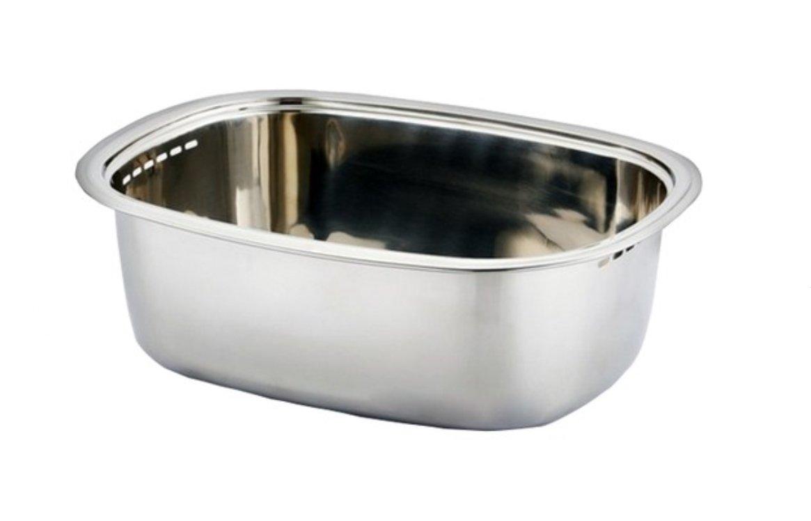 Kitchen Flower 304 Stainless Steel Washing-up Bowl/Multi-purpose Dish Tub for Sink/Wash Basins/Dishpan for Sink