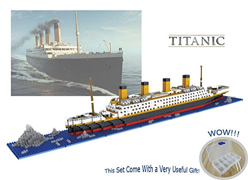 Sanzo The Titanic Model Micro Block Build Set 1860pcs - Nano Micro Diamond Blocks DIY Educational Toys