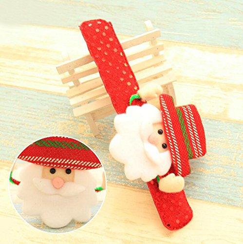 Snoopy Nose Costume (VIPASNAM-Flash Light Santa Claus Luminous Snowman Bracelet Christmas Kids Toy Circle Hand(random Main Color))