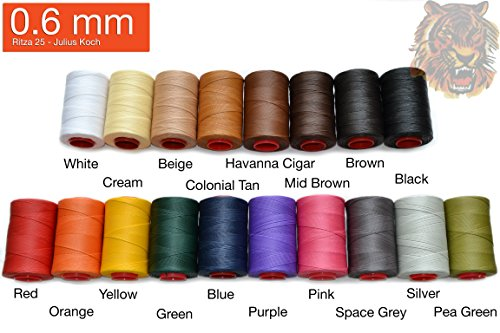 0.6mm Ritza 25 Tiger Thread - Waxed Poly - Beige Tiger Shopping Results
