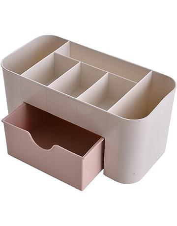 Emorias 1 Pcs Cajones Caja de Almacenamiento Portalápices Estante de Maquillaje Plástico Escritorio Oficina Organizador -