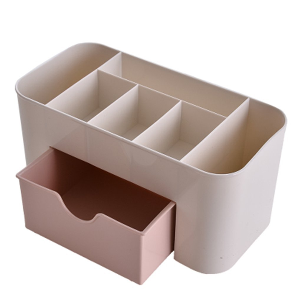 Spaufu Cajas de Almacenaje de Pl/ástico de Joyas Maquillaje Organizador Multifuncional Rosa