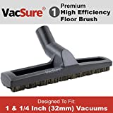 Premium 12 Wide Hardwood & Bare Floor Brush Vacuum Attachment with Wheels, By VacSure