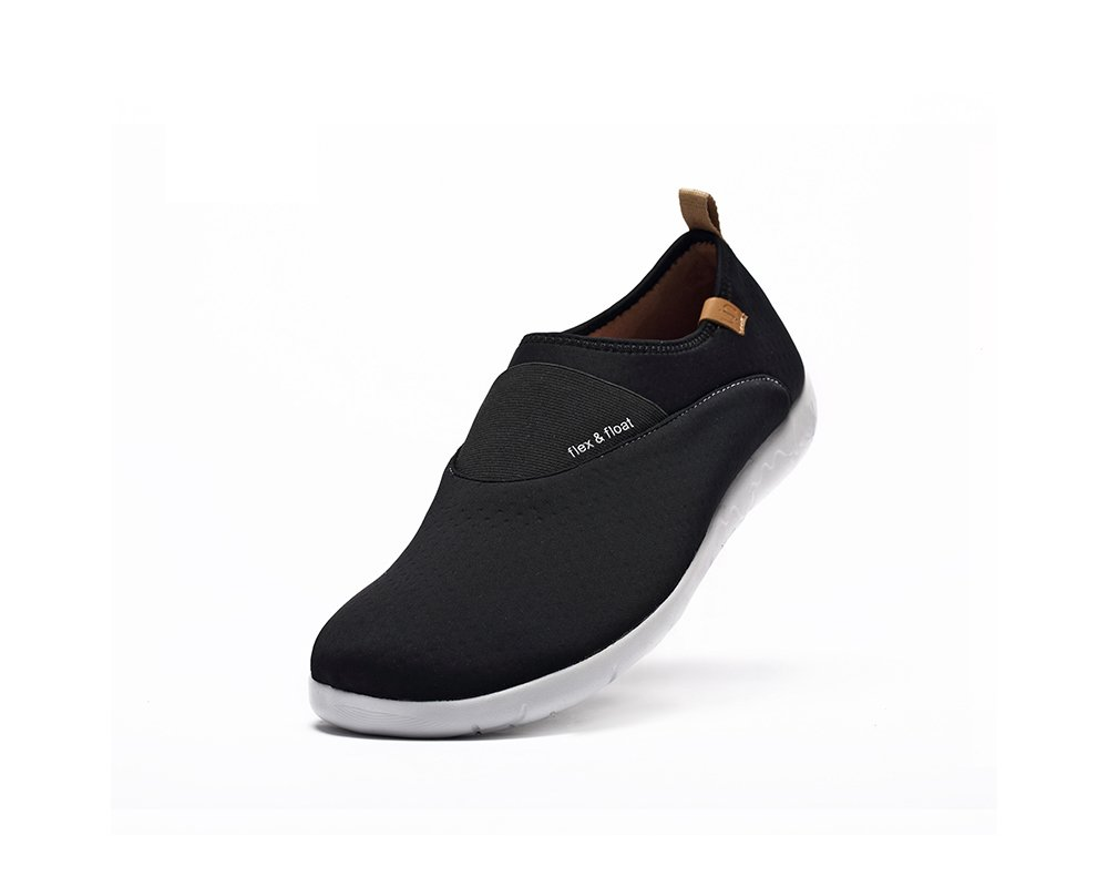 UIN Women's Sintra Lycra Breathable Slip On Shoe B01KLM9N72 7 B(M) US|Black