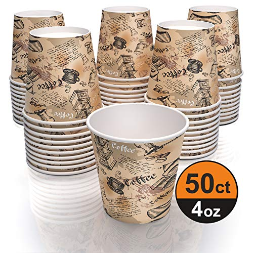 4 oz paper cups for coffee tea and water - decorated paper cups