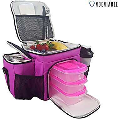 Undeniable - #1 Best Meal Prep Bag ● Premium Meal Containers ● Keeps Food Ice Cold - Perfect For Fitness and Bodybuilding Lunch Bag - 30-Day 'Thrilled Customer' 100% Guarantee …